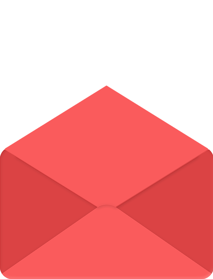 Envelope with flap